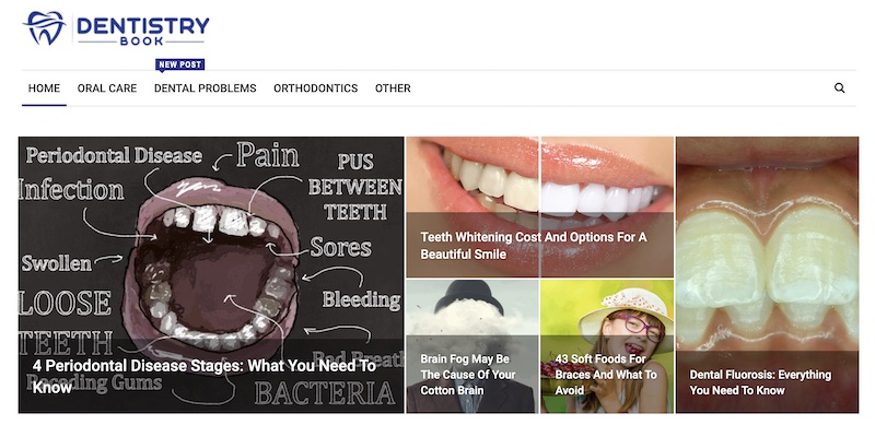 Dentistry Book blog page